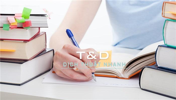 Công ty dịch thuật T&D