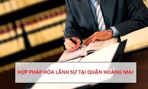 Hợp pháp hóa lãnh sự quận Hoàng Mai